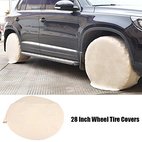 Zerone 4Pcs Reifenabdeckung für Auto, Reifenschutz, 28 Zoll Reifen für RV Camper Trailer