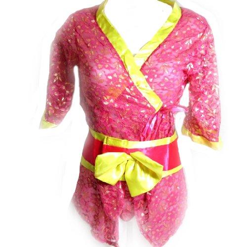 Les Trésors De Lily [K8500] - Kimono 'Sexy Geisha' gelbe rose.