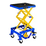 MSW Table Elévatrice Table de Levage MSW-MHB-135-PRO (capacité de Charge : 135 kg, Hauteur : 35 – 87 cm, Plateforme (L x l) : 41 x 35 cm, sécurisé Via Barre de Verrouillage, 4 Roues)