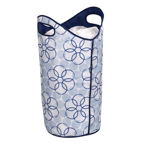 Household Essentials - Softside Hamper with Handles - Blue/White