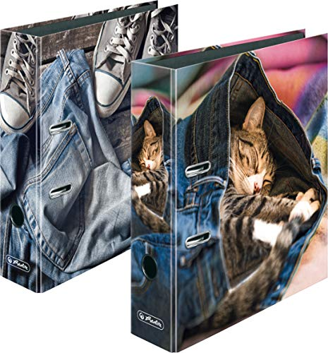 herlitz Ordner maX.file, A4, 8cm (Jeans...