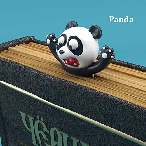 1 PC Original niedlichen Panda und Shiba Inu PVC-Material Lustige Lesezeichen 3D-Stereo-Cartoon-Lesezeichen Schulbedarf Briefpapier, Panda