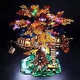 BRIKSMAX Kit de Iluminación Led para Lego La casa del árbol Ideas,Compatible con Ladrillos de Construcción Lego Modelo 21318, Juego de Legos no Incluido