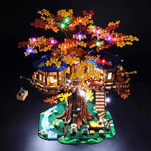 BRIKSMAX Kit di Illuminazione a LED per Lego The Treehouse Ideas,Compatibile con Il Modello Lego 21318 Mattoncini da Costruzioni - Non Include Il Set Lego.