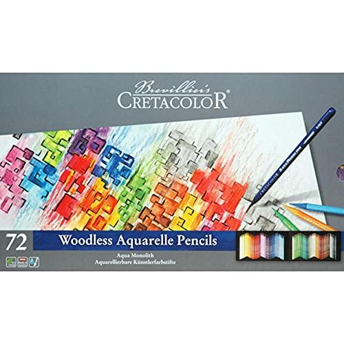 Cretacolor Aqua Monolith Woodless Watercolor Pencil Sets,...