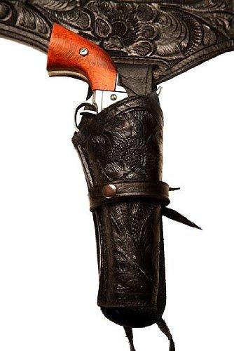 44/45 Caliber Black Leather Gun Holster Size 38