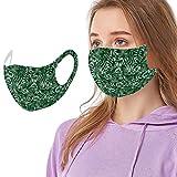 Mundschutz mit Motiv Waschbar Wiederverwendbar Sommer Seide Coole Atmungsaktive Mund und Nasenschutz Halstuch für Damen Herren (A)