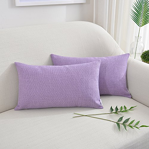 NATUS WEAVER 2 Pieces Linen Burlap Throw Pillow Cover