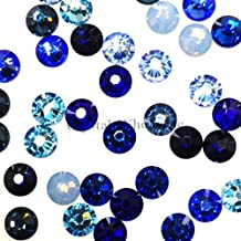 Swarovski 2058 SS16 (3.9mm) crystal flatbacks No-Hotfix rhinestones BLUE Colors Mix