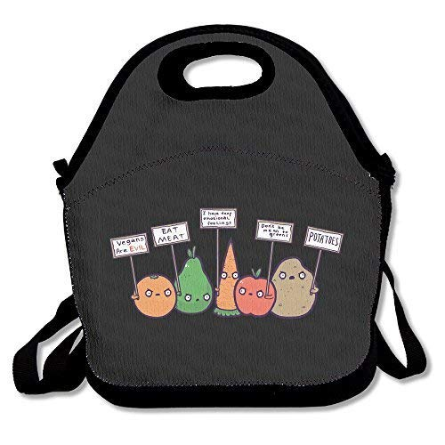 Funny I Hate Vegans Lunch Bag Box Tote Bag