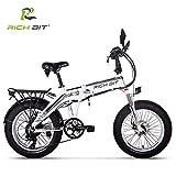 RICH BIT 20 Pollici Bici da Neve elettrica Pieghevole da 500 W Mountain Bike con Sedile Po...