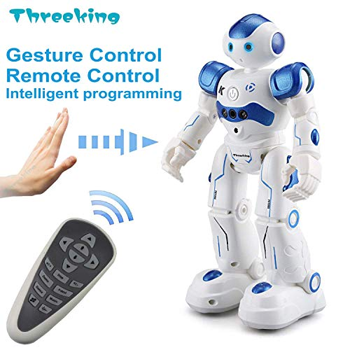 Threeking RC Robot Toy Robots for Kids Programmable Smart Sensing Robot for...