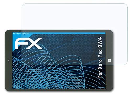 atFolix Schutzfolie kompatibel mit Xoro Pad 9W4 Folie, ultraklare FX Bildschirmschutzfolie (2X)