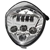 LED Headlight for Victory Motorcycle Cross Road Country Cruisers 2010-2016 (Chrome)