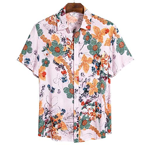 RelaxLife Camisa de Manga Corta para Hombre Camisa De Hombre Camisa Hawaiana De Playa con Estampado De Verano Camisa De Hombre De Manga Corta Casual Camisa De Hawaii Camisa De Hombre