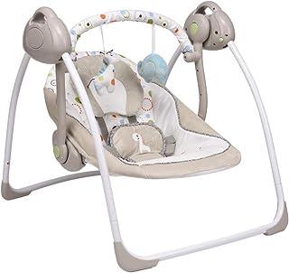 バウンサー ベビー 電動スイング 音楽機能 折りたたみ 収納便利 持ち運びしやすい (カーキ)
