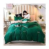 AMDXD Juego de 4 fundas de almohada de poliéster, diseño de abejas, sábana y funda de almohada (1 funda de edredón de 220 x 240 cm, 1 sábana de 230 x 250 cm, 2 fundas de almohada de 48 x 74 cm).