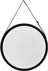 Little Beauty Nordique Simple Dressing Miroir Miroir Mural Salle De Bain Salle De Bain Miroir Rond (Color : Black)