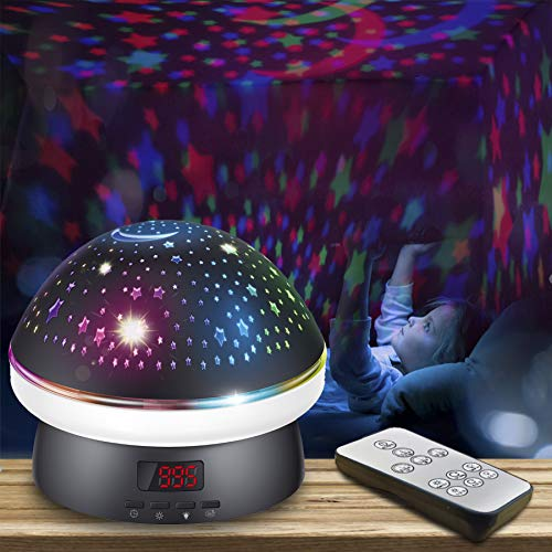 Toys for 3 4 5-10 Year Old Girls, Star Night Light Projector for Kids, Remote Control Starry Projection Lamp with Timer Birthday Christmas Xmas Easter Gifts for 3-10 Year Old Boys Girls Baby Kid Black