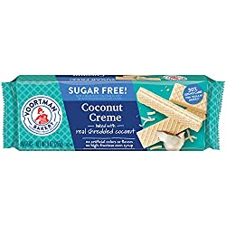 Voortman Bakery Sugar Free Coconut Creme Wafers, 27 Count
