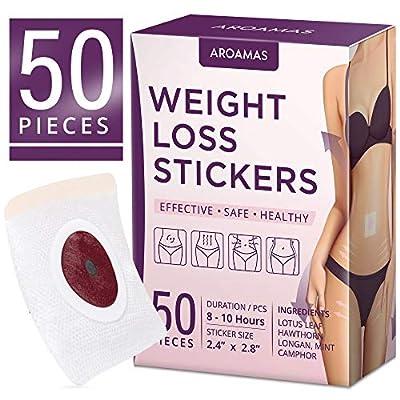 50pcs Weight Loss Sticker, Slimming Tightening Sticker, Fat Burning Sticker with Magnets, for Beer Belly, Buckets Waist, Waist Abdominal Fat by Aroamas