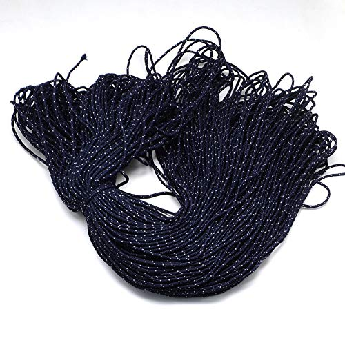 PH PandaHall About 100m 2mm Parachute Rope Paracord Polyester Ropes Spandex Accessory Cord Rope Multipurpose for Bracelets Making Climbing (MidnightBlue)