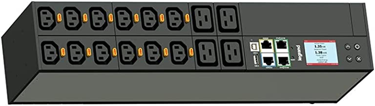 C2G Rack PDU, Network Metered, 2U, 24A, 208V, (12) C13 & (4) C19, L6-30P Cord