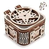 GuDoQi Caja de Música Mini, Maquetas Madera para Montar, Puzzle 3D Madera para Construir, Construcciones para Adolescentes y Adultos, Music Box Regalos para Cumpleaños y Navidad