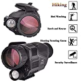 SOLOMARK 5x40 Night Vision Monocular-Infrared IR Camera with Recording Image and...