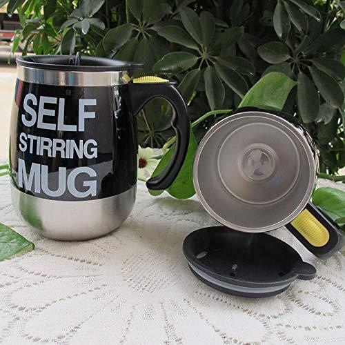 Taza de café eléctrica con agitación automática, taza de acero inoxidable, mezcla automática y giratoria, mezcladora de viaje para oficina en casa, taza batidora de leche