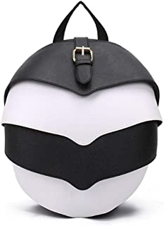 LZRDZSWYXGS Overhang Backpack Personality Trend Men and Women Students Bag Outside Leisure Travel Bag Creative Fan-Shaped Open Shoulder Bag Suitable for outings/Hiking/Schools (Color : White)