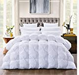 Luxurious Goose Down Comforter King Size Duvet Insert, Pinch Pleat Design,750+ Fill Power