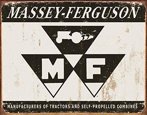 SIGNCHAT Iwgac Metall-Blechschild Massey Ferguson Logo Traktoren Vintage Werbeschild Blechschild 20,3 x 30,5 cm