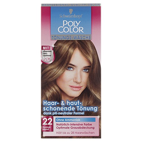 SCHWARZKOPF POLY COLOR Toenungs-Waesche 22 Dunkelblond Stufe 2, 3er Pack (3 x 105 ml)