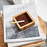 Cenicero, Cenicero de madera maciza de la personalidad creativa moda sencilla en la sala de estar Mesa de hotel Alojamiento y desayuno hogar cenicero, ceniceros, posos de café * 1 + 1 *, Color: Cenice