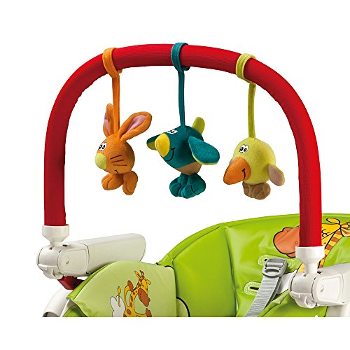 Peg-Pérego Kit Play Bar - Barra de juegos con muñequitos para trona, color rojo