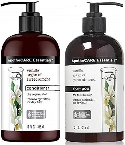 ApotheCARE Essentials The Replenisher Moisturizing Shampoo Conditioner Combo Vanilla Argan Oil product image