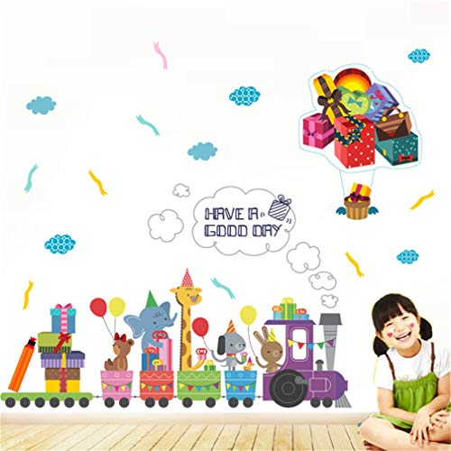 EWQHD Cartoon House Lichaam Hoge Sticker Gekleurde Potloden Baseboard Muursticker Kids Kamer Slaapkamer Woonkamer Huis Decor Vinyl Sticker, F