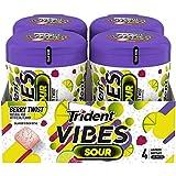 Trident Vibes Sour Berry Twist Flavor Sugar Free Gum, 4 Go-Cups (40 Piece per Pack, 160 Piece Total)