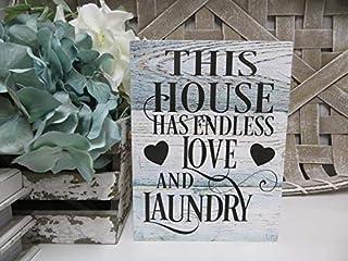 Générique Panneau de buanderie en Bois, Cette Maison a Endless Love and Laundry, décoration de buanderie, Cadeau de Pendai...