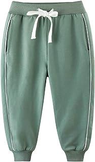PAUBOLI Pantalones deportivos de algodón para niños y niñas, 3-12T