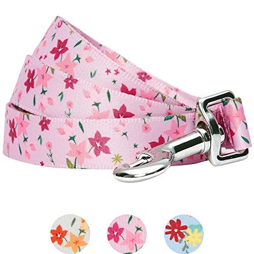 Umi. Essential Made Well, guinzaglio per Cani Floreale, Resistente, 120 x 2,5 cm, Taglia L, Colore Rosa