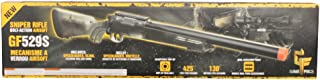 Game Face 52004S Crosman GF529 Sniper Carbine Spring Powered Single Shot Bolt Action Airsoft Rifle, Smoke