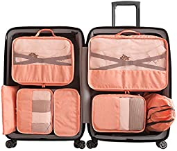 Cloudsky 7 Set/ 8 Set Packing Cubes, Travel Storage Bags Multifunctional Clothing Sorting Packages, Travel Packing Pouches, Luggage Organizer Pouch, Shoe Bags