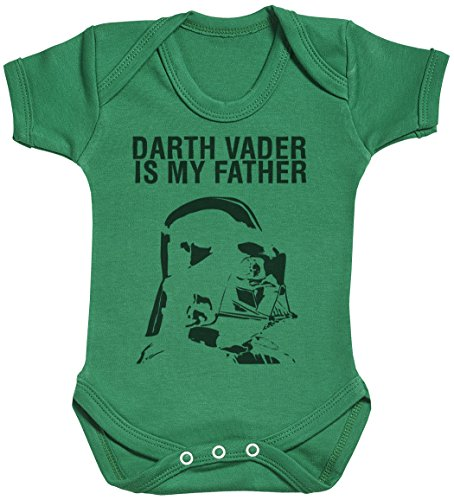 Darth Vader is My Father Baby Gift, Baby Boy Gift, Baby Girl Gift, Baby Boy Bodysuit, Baby Girl Bodysuit - 3-6 Months Green