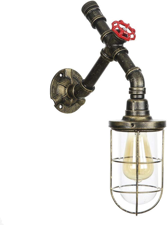SUWIND Vintage Industrial Steampunk Wasserpfeife Wandleuchte Retro Wasserpfeife Wandleuchte Retro Metall Wandleuchte Edison Lampe Leuchte Dekoration Zubehr für Bar Cafe Loft Garage, grün