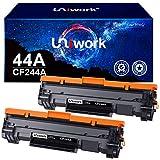 Uniwork 44A CF244A Cartucce Toner Compatibili per HP CF244A 44A per HP LaserJet Pro M15w M15a LaserJet Pro MFP M28w MFP M28a (2 Nero)