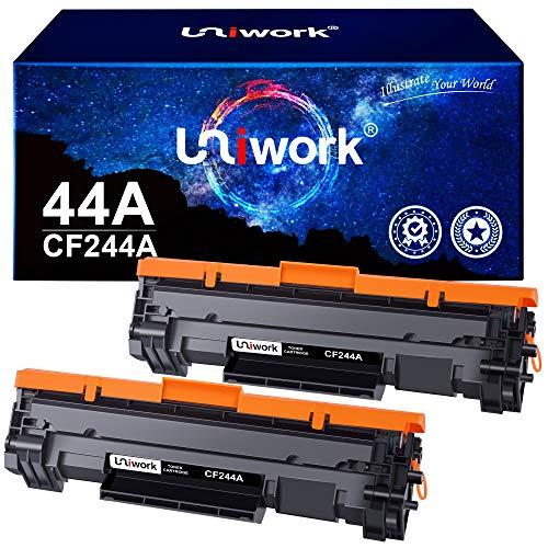 Uniwork 44A CF244A Kompatible Toner Patronen für HP CF244A 44A für HP LaserJet Pro M15w M15a LaserJet Pro MFP M28w MFP M28a Drucker (2 Schwarz)
