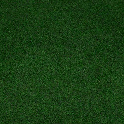 Kunstrasen Fertigrasen in 3 Farbig mit Drainagenoppen (160 cm x 200 cm, Moos 630 (Grün))