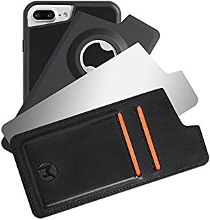 Mega Tiny Corp Anti Gravity Phone Case Compatible for iPhone   Hands Free Selfie   Stick to Wall   Includes Wallet, Mirror, Bottle Opener Cover (8 Plus / 7 Plus / 6s Plus / 6 Plus - 5.5 inches)